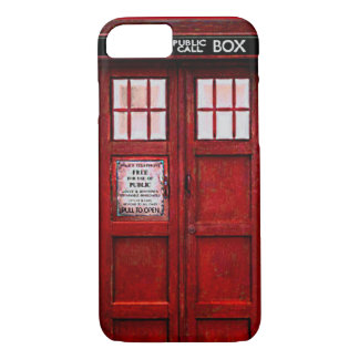 Vintage Police Public Call Box iPhone 7 case (red)