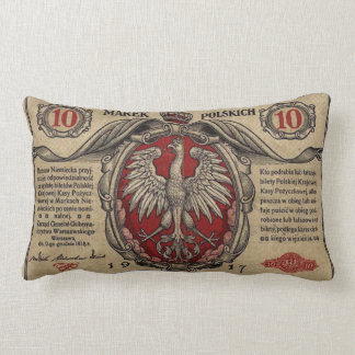 Vintage Polish Banknote MoJo Throw Pillow Lumbar 1