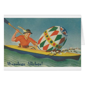 Vintage Polish Easter Card - Wesolego Alleluja!