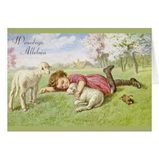 Vintage Polish Easter Greeting Card