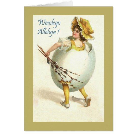Vintage Polish Easter Greeting Card