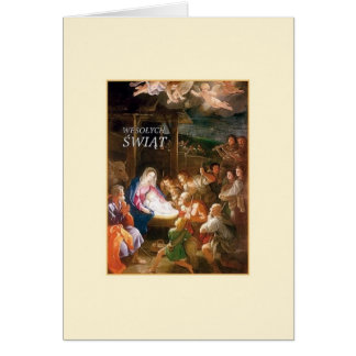 Vintage Polish Nativity Christmas Card