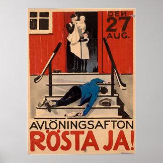 Vintage Polish Prohibition Poster 1922 Large Canva