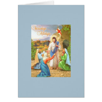 Vintage Polish Religious Easter Greeting Card