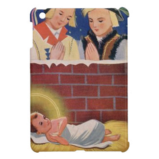 Vintage Polish Wesołyeh Świąt Christmas Retro Art iPad Mini Case