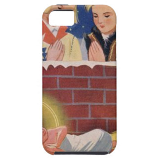 Vintage Polish Wesołyeh Świąt Christmas Retro Art iPhone 5 Case