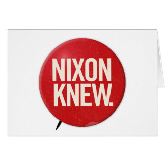 Vintage Political Richard Nixon Button Nixon Knew Card