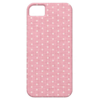 Vintage Polka dot fabric texture pattern Case For The iPhone 5