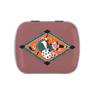 Vintage Polka Dot Witch   Mint Tin