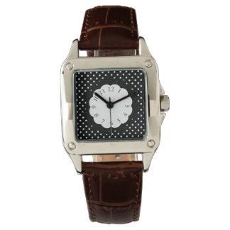 Vintage_Polka-Dots_B & W_ Wristwatch