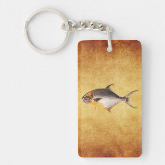 Vintage Pompano Fish- Game Fishes Template Blank Keychain