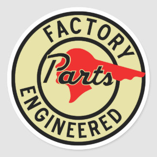 Vintage Pontiac Factory parts sign Classic Round Sticker