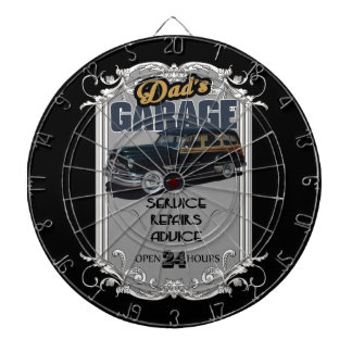Vintage Pontiac Garage Dartboard
