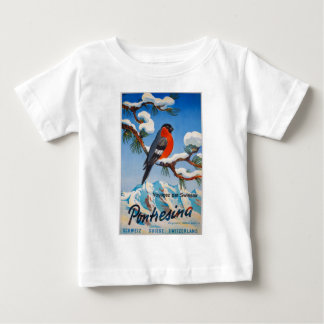 Vintage Pontresina Vacation Swiss Air Switzerland Baby T-Shirt
