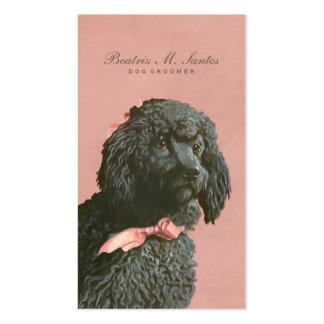 Vintage Poodle Dog Grooming Cool Animal Elegant Business Cards