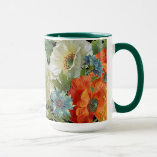 Vintage Poppies and Cornflowers Floral Mug