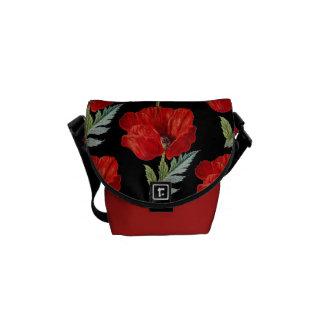 Vintage Poppies Flower Graphic Commuter Bag