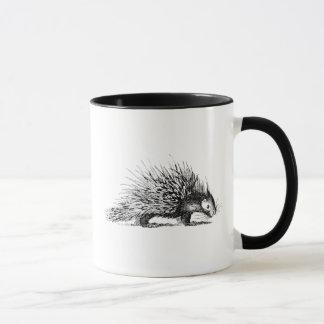 Vintage Porcupine Illustration - 1800's Porcupines Mug