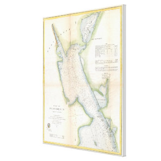 Vintage Port of Providence Rhode Island Map (1865) Canvas Print
