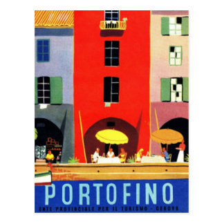 Vintage Portofino Genova Italy Postcard