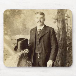Vintage Portrait Gentleman Mouse Pad