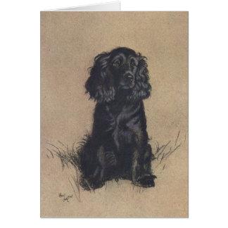 Vintage Portrait of a Cocker Spaniel, Card