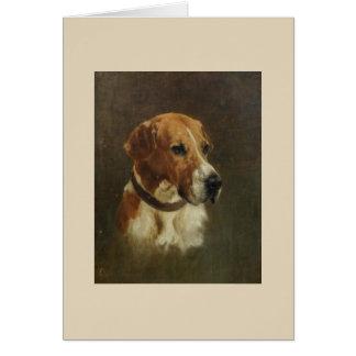 Vintage - Portrait of a Foxhound Dog, Card