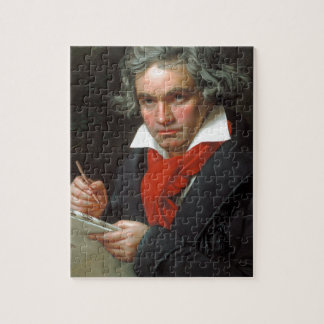 Vintage portrait of composer, Ludwig von Beethoven Jigsaw Puzzle