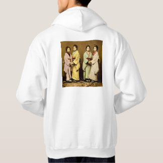 Vintage Portrait of Four Geisha Old Japan Hoodie
