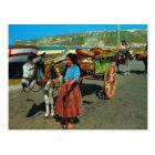 Vintage Portugal, Nazare, unloading sardine boats Postcard