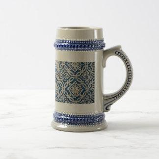 Vintage portuguese azulejo beer stein