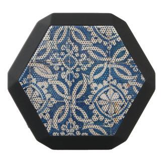 Vintage portuguese azulejo black bluetooth speaker