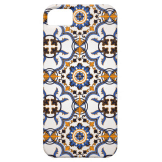 Vintage Portuguese Azulejo Blue Yellow Pattern iPhone 5 Cover