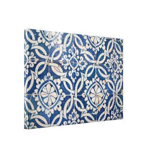 Vintage portuguese azulejo canvas print