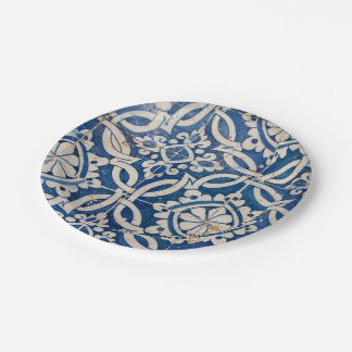 Vintage portuguese azulejo paper plate