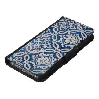 Vintage portuguese azulejo samsung galaxy s6 wallet case