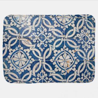 Vintage portuguese azulejo swaddle blanket