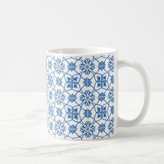 Vintage Portuguese Azulejo Tile Pattern Coffee Mug