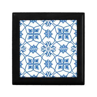 Vintage Portuguese Azulejo Tile Pattern Gift Box