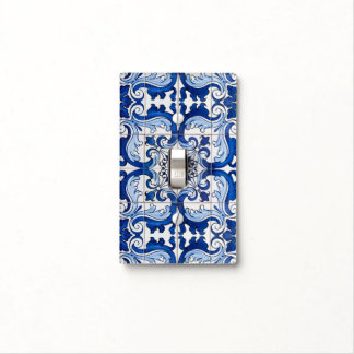 Vintage Portuguese Azulejo Tile Pattern Light Switch Cover