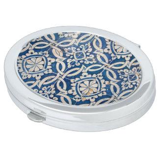 Vintage portuguese azulejo vanity mirrors