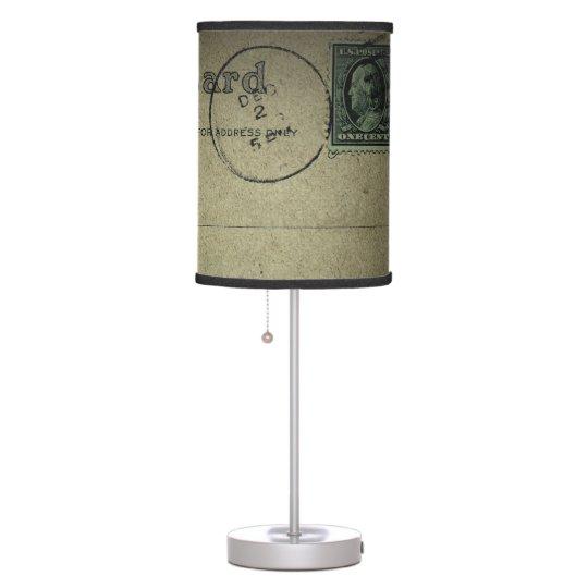 Vintage   Postcard Back - Lampshade Desk Lamp