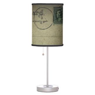 Vintage   Postcard Back - Lampshade Table Lamp