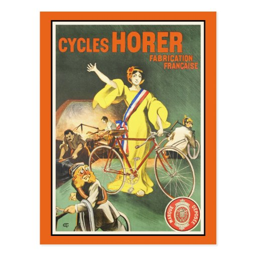 Vintage Postcard:  Cycles Horer Bicycle Ad