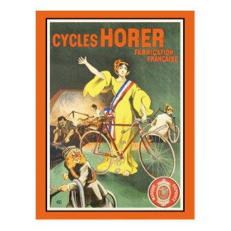 Vintage Postcard:  Cycles Horer Bicycle Ad Postcard