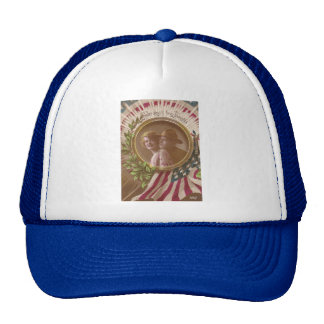 Vintage Postcard: Never Absent From Thoughts Trucker Hat