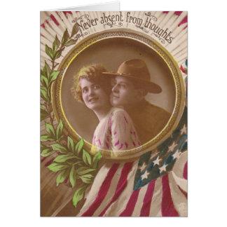Vintage Postcard:Never Far Greeting Card