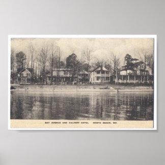 Vintage Postcard North Beach Maryland Poster