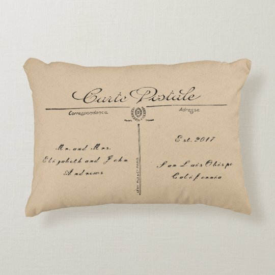 Vintage Postcard Pillow