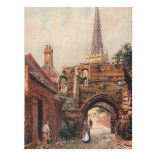 Vintage Postcard Prince Rupert's Gate Leicester